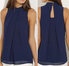 3.68 GBP - Summer Women's Sleeveless Chiffon Vest Tops Blouse Fashion Tops #ebay #Fashion