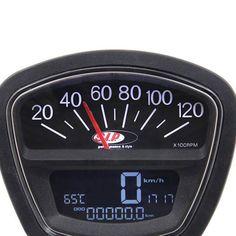 Nuovo strumento da sogno per la tua #Lambretta LI LIS SX TV DL GP - sfondo nero. Contagiri, #tachimetro e #temperatura testa tutto in uno...Stf Verona.