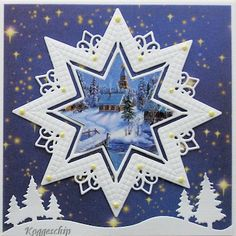 Voorbeeldkaart - Kerst 2015-17 - Categorie: Stansapparaten - Hobbyjournaal uw… Christmas Wishes, Christmas Art, Christmas Greetings, Chrismas Cards, Xmas Cards, Marianne Design Cards, Beautiful Christmas Cards, Embossed Cards, 3d Cards