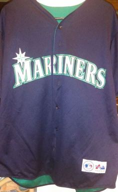 1995 Ken Griffey Majestic Jersey..Made in the USA.. Seattle Mariners..MLB!!! #Majestic #SeattleMariners