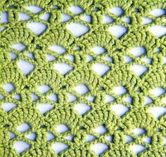 Crochet Stitches - I love this graceful crochet stitch pattern. A Crochet Chart is included at the site. This would make a stunning shawl!