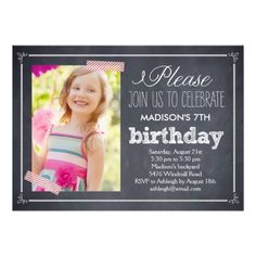 Stylishly Chalked Photo Birthday Invitation This site is will advise you where to buyThis DealsReview on the This website by click the button below...