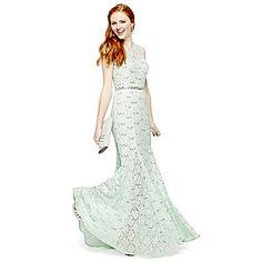 jcp   My Michelle® Open-Back Lace Long Dress $80