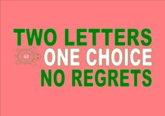 Instead of regrets, use ragretz