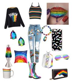 """""""RAINBOWS!!"""" by ragdoll130 on Polyvore featuring Volatile, Topshop, Casetify, Universal Lighting and Decor, Kate Spade, West Coast Jewelry, WithChic, Jonathan Adler, Fiesta and Les Petits Joueurs"""