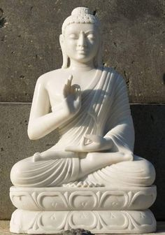 The Metta Sutta is sometimes called the Karaniya Metta Sutta. It is from a part of the Tripitaka called the Sutta Nipata, which is in the Sutra-pitaka (or Sutra Basket) of the Tripitaka. Monks of the Theravada school frequently chant the Metta Sutta. Buddha Garden, Gnome Statues, Buddha Statues, Shiva Statue, Stone Carving, White Marble, Photo Art, Indiana, Sculptures