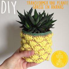 Tuto : Cache pot ananas au crochet
