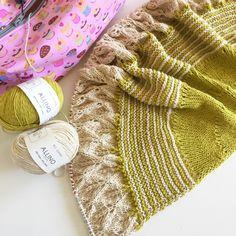 My upcoming Summer Daze Shawl in linen/cotton yarn, Allino, from BC Garn   Ravelry pattern   lace knitting