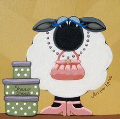 Sheep Shoes - Annie Lane Folk Art
