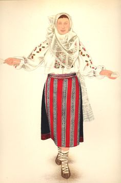 Popular Folk Embroidery Romania Gallery / Tărancă din Bran Transilvania - Peasant Woman from Bran Transylvania Folk Embroidery, Embroidery Patterns, Floral Embroidery, Folk Costume, Costumes, Medieval Clothing, Antique Quilts, Girl Blog, Embroidery Techniques