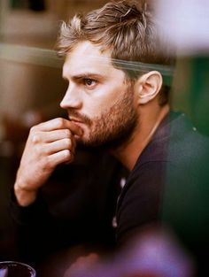 Jamie Dornan #window #reflection,, so sexy