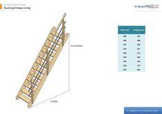 Raumspartreppe Living mit variablen Anstellwinkel. Treppen Intercon