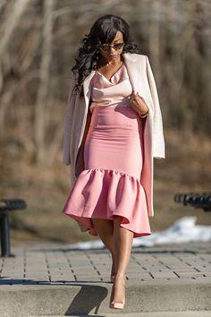 @jadorefashions peplum skirt  #nude #pink #peplum