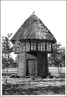 The Folly Pen and Ink Drawing Note Cards Stationery