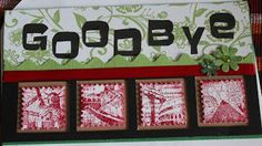 Jettescraftcorner: Goodbye Card Used Materials: - Papermania Capsule. Paper, Frame, Cards, Blog, Decor, Picture Frame, A Frame, Decorating, Maps