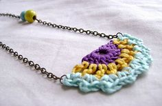 Another pinner said: my crocheted necklace