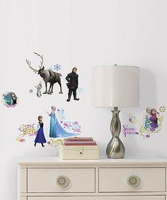 Love this Frozen Peel & Stick Wall Decal Set on #zulily! #zulilyfinds
