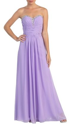 This gorgeous A-line strapless gown in lilac features a pleated bodice that is highlighted by a crisscross band gracing the natural waist that leads to a floor-length skirt enhanced with subtle pleats. Homecoming Dresses, Bridesmaid Dresses, Bridesmaids, Winter Formal Dresses, Lilac Dress, Pleated Bodice, A Line Gown, Lace Corset, Strapless Dress Formal