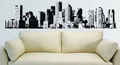 New-York-City-NYC-Skyline-Mural-Wall-Vinyl-Decal-7-5-ft