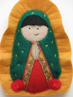 Our Lady of Guadalupe Felt Saint Softie by SaintlySilver on Etsy, $20.00