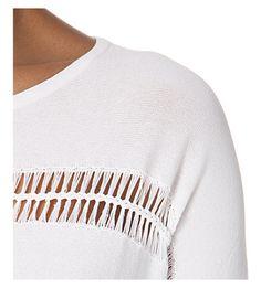 MAJE Miss open-knit detail jumper (Blanc