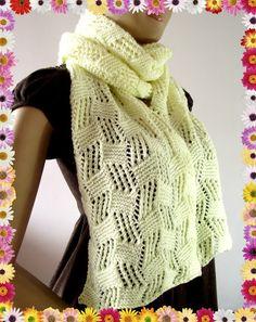 LiliaCraftParty: Cool Breeze Knitting Scarf Pattern