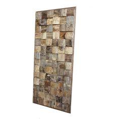 Wandpaneel mozaïek hout