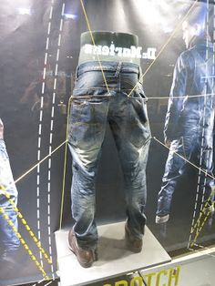 G- Star Raw denim, pinned by Ton van der Veer Raw Denim, Blue Denim, Denim Jeans, Denim Display, Denim Shop, G Star Raw, Fashion Outfits, Mens Fashion, Retail Design