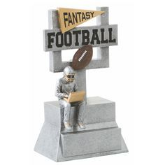 Fantasy Football Resin Trophy for your fantasy league winner!
