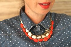 DIY Chunky Necklace » For the Love of... For the Love of…
