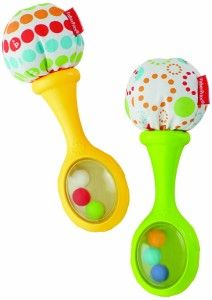 Baby Toy Rattles Bells Shaking Dumbells Early Development Toys 0-12 Months #UK