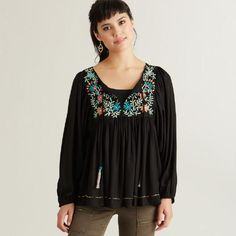 One of my favorite discoveries at WorldMarket.com: Black Embroidered Wynn Top