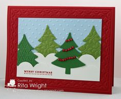 """by Rita Wright, Rita's Creations **** SU """"Scentsational Season"""" stamp image & """"Holiday Collection"""" Framelits Dies, 2012 Holiday Mini."""