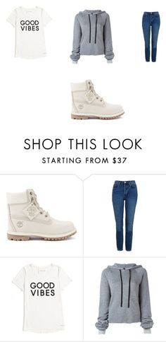 """all day"" by tylerthequeen001 ❤ liked on Polyvore featuring Timberland, Topshop, Tommy Hilfiger and Unravel"