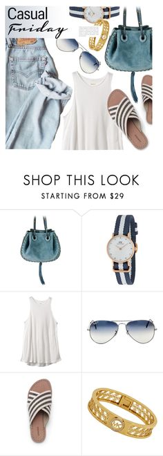 """""""Casual"""" by jomashop ❤ liked on Polyvore featuring Daniel Wellington, RVCA and Lands' End"""