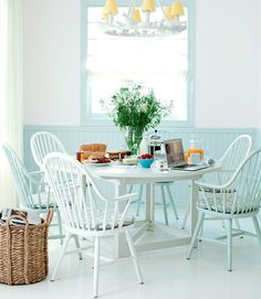 Beautiful pale-colored cottage! Loving this space! via 79ideas.org