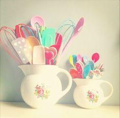 Querido Refúgio, Blog de decoração e organização com loja virtual: Cozinha fofa e romântica em rosa e azul