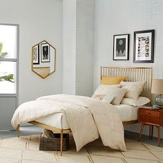 Not gonna lie, this is my dream bed *sigh* Stella Metal Bed - Brass #westelm