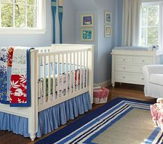 blue baby nursery, surf hawaii theme...this is perfect for my Lilo and Stitch themed baby room! =)