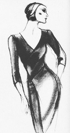 Fashion Illustration - 1982 - by Antonio Lopez for Charles James