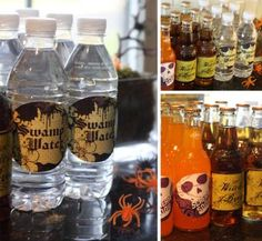 Halloween drink lables!