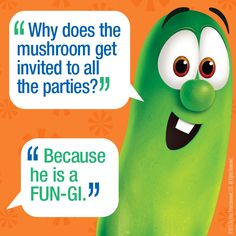 Be a hit with your little ones today! Tell them a joke from Larry! #VeggieTales #Silly