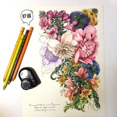 I think this is the best one. XDD#coloringbook #coloring #floribunda #adultcoloringbook