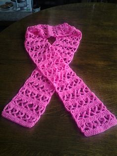 Ravelry: Crochet Awareness Ribbon Scarf (Pink for Breast Cancer or other Causes) pattern by Naztazia