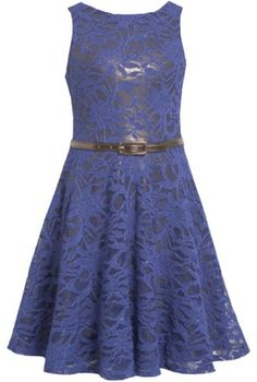 Royal-Blue Belted Sequin Sparkle Lace Overlay Dress RY4MU Bonnie Jean Tween Girls Special Occasion Flower Girl Holiday BNJ Social Dress, Royal Bonnie Jean,http://www.amazon.com/dp/B00FEZEXMM/ref=cm_sw_r_pi_dp_ympusb04BWYAE9T2