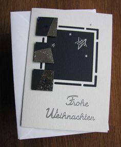 Weihnachtskarte aus hochwertigem Kartenpapier mit dekorativen 3D Elementen und Stickern. Die Karte wurde in Handarbeit gefertigt.