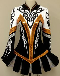 Black, Gold & White Irish Dance Solo Dress