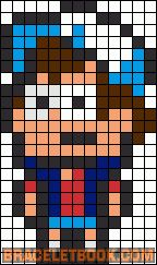 Dipper Pines Gravity Falls perler bead pattern