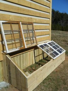 A Garden Space with a Windowed Top | Build a beautiful outdoor #greenhouse | Creative Greenhouse DIY plans