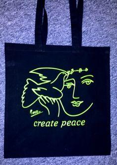 Pablo Picasso, Create Peace Tote Bag
